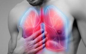 Боль в области больного лёгкого