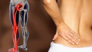 Боль в позвоночнике, нижних конечностях и в костях таза